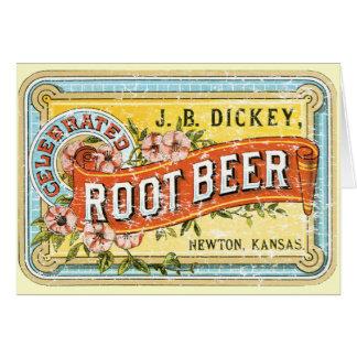 Cartes Racine Beer-1899 de faux plastron - affligée