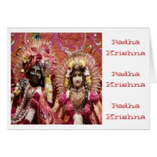 Cartes Radha KRISHNA pour l'amour, prospérité de la paix