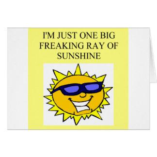 Cartes raie de soleil freaking