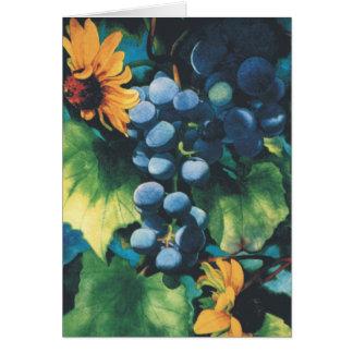 Cartes Raisins et Susans Noir-Eyed