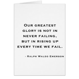 Cartes Ralph Waldo Emerson - citation de motivation