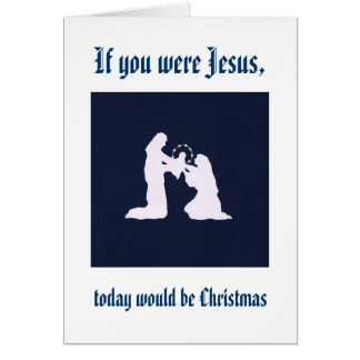 Cartes Rappelez-vous Jésus sur votre anniversaire