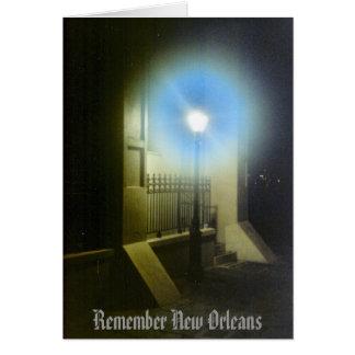 Cartes Rappelez-vous la Nouvelle-Orléans Lamposts