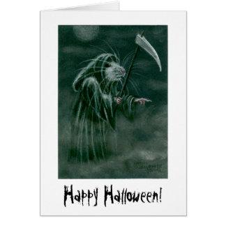 Cartes Rat de faucheuse, Halloween heureux !