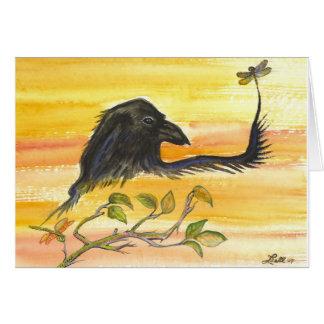 Cartes Raven rencontre la libellule