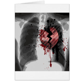 Cartes Rayon X Hearted cassé