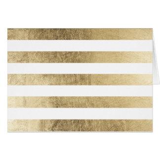 Cartes Rayure moderne d'or à la mode élégant élégant de
