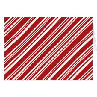 Cartes Rayures de menthe poivrée de Noël : Rouge et blanc