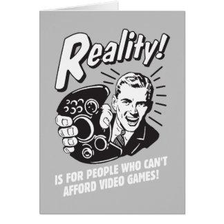 Cartes Réalité : Ne peut pas avoir les moyens des jeux
