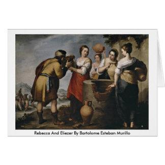 Cartes Rebecca et Eliezer par Bartolome Esteban Murillo