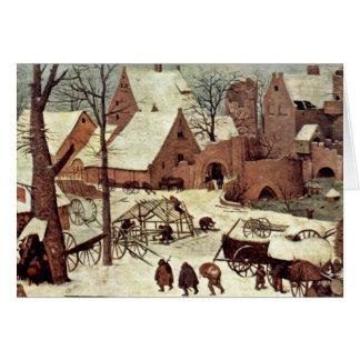 Cartes Recensement à Bethlehem, détail par Bruegel D. Ä.