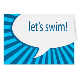 Cartes réception au bord de la piscine ! bulle comique de