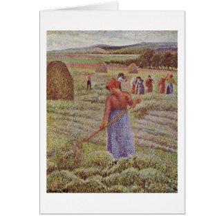 Cartes Récolte de foin chez Eragny par Camille Pissarro