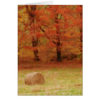 Cartes Récolte de foin dans le domaine d'automne