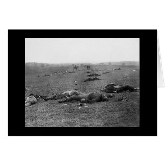 Cartes Récolte de la mort à Gettysburg, PA 1863