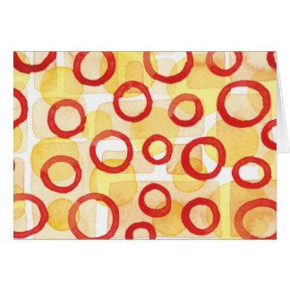 Cartes Rectangles oranges avec les cercles pour aquarelle