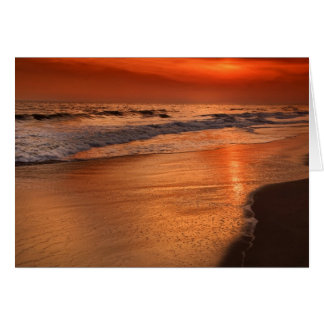Cartes Réflexions de coucher du soleil outre des nuages