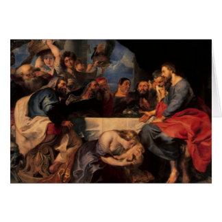 Cartes Régalez dans la maison de Simon le Pharisee,