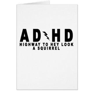 Cartes Regard de route d'ACDC TDAH hé un écureuil ! pièce