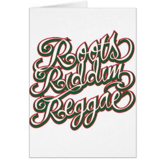 Cartes Reggae de Riddim de racines