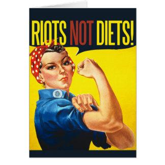 Cartes Régimes d'émeutes pas - le féminisme vintage