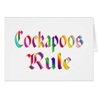 Cartes Règle de Cockapoos