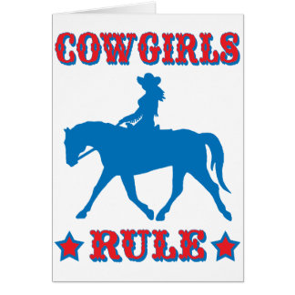 Cartes Règle de cow-girls (rouge/bleu)