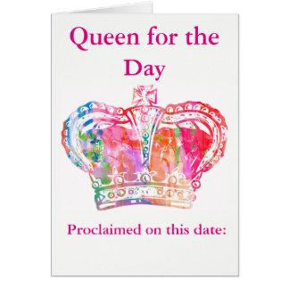 Cartes Reine d'anniversaire