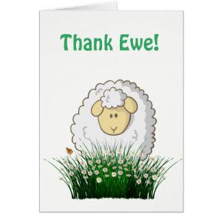 Cartes Remerciez la brebis !