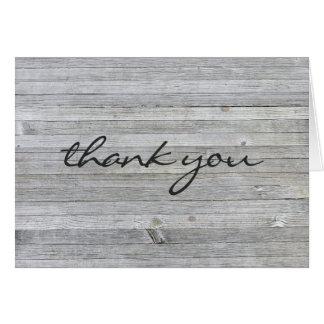 Cartes remerciez le bois gris vous-patiné
