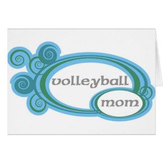 Cartes Remous de maman de volleyball
