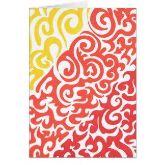 Cartes Remous rouge jaune-orange