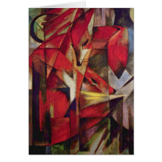 Cartes Renards par Franz Marc, art abstrait de cubisme de