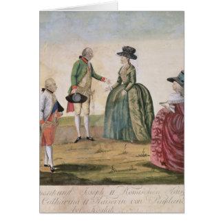 Cartes Rencontrant entre Joseph II et impératrice