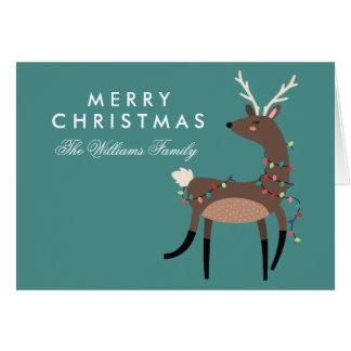 Cartes Renne de lumières de Noël du Joyeux Noël |
