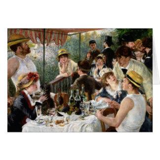 Cartes Renoir : Déjeuner de la partie de canotage