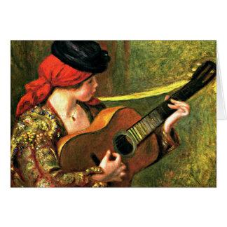 Cartes Renoir - jeune femme espagnole avec une guitare