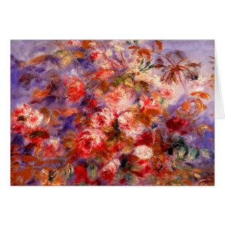 Cartes Renoir : Roses par la fenêtre