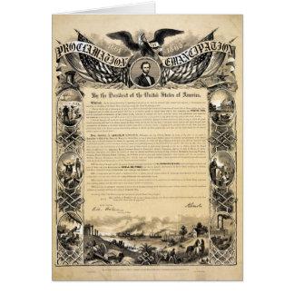 Cartes Reproduction de la proclamation d'émancipation