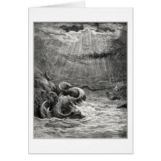 Cartes Reptile avec le frai abondant, par Gustave Dore