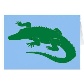 Cartes Reptile d'alligator d'alligator de crocodile