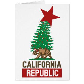 Cartes République de fête de la Californie pour les