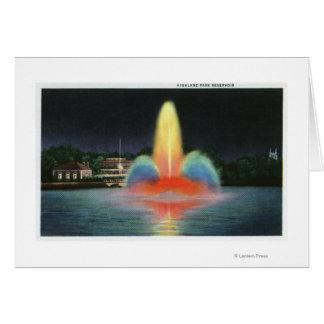 Cartes Réservoir de Highland Park illuminé la nuit