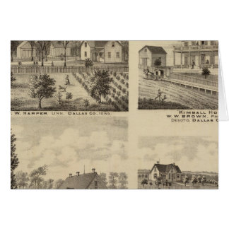 Cartes Résidences dans Linn et Desoto, Dallas Co, Iowa