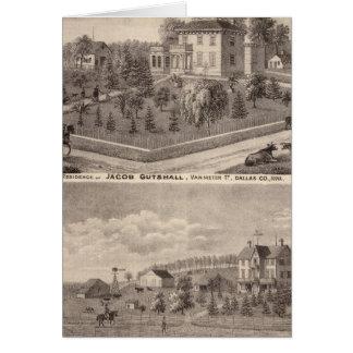 Cartes Résidences de J Butshall et de DM Flinn