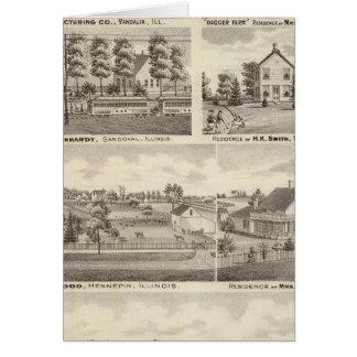 Cartes Résidences, fermes et usine, Vandalia, Sandoval