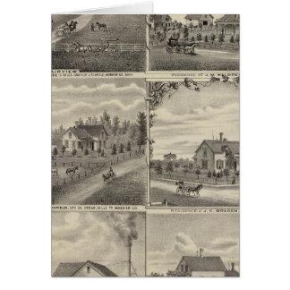 Cartes Résidences, fermes, moulin dans Litchfield,