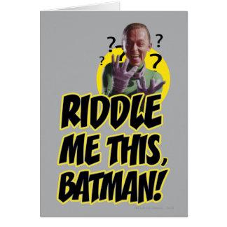 Cartes Résolvez-moi ce Batman