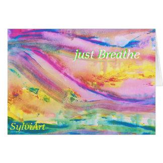 """Cartes """"respirez juste"""" la carte, copyright ©2011."""