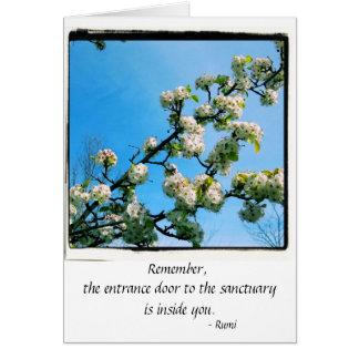 Cartes Ressort sage de citations floral